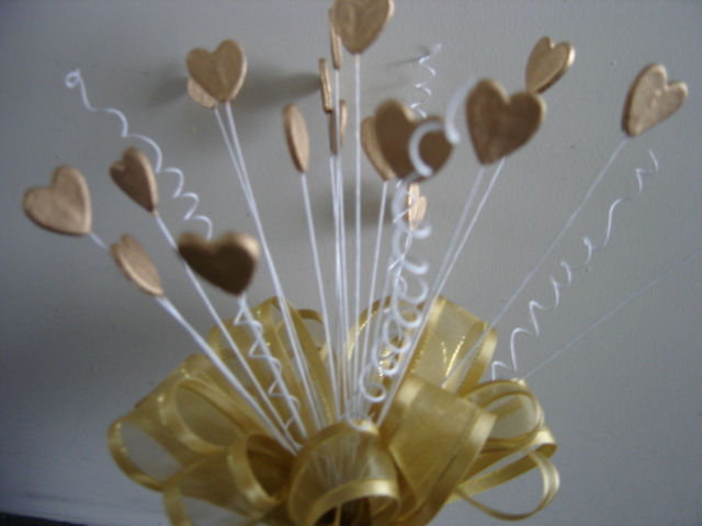 Gold hearts & Bow