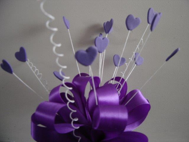 Purple Hearts & Bow