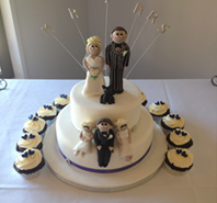 ICING BRIDE AND GROOM