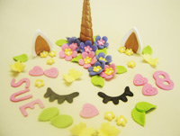 Unicorn-Cake-Topper-Set